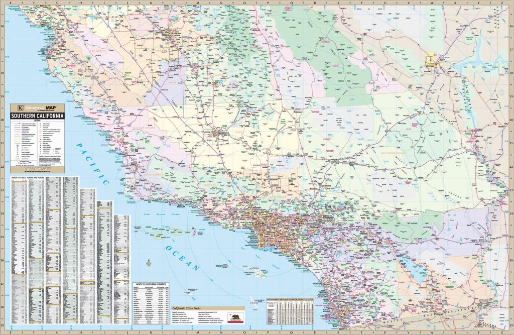 California State Southern Wall Map – Kappa Map Group - Southern California Wall Map