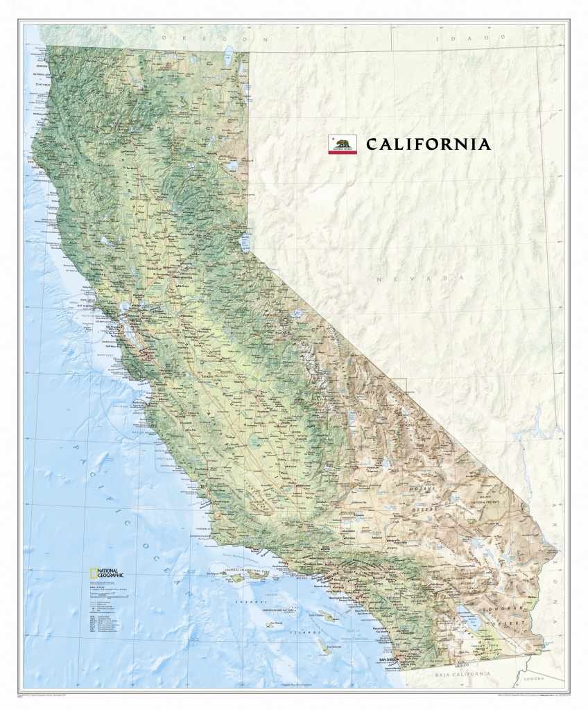California State Wall Map - California State Map Pictures