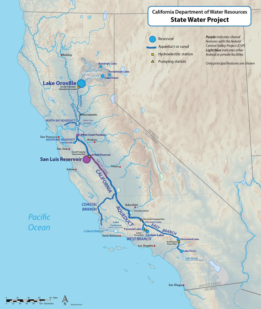 California State Water Project - Wikipedia - California Water Map