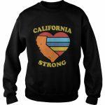 California Strong Heart Map Shirt   Online Shoping   California Map Shirt