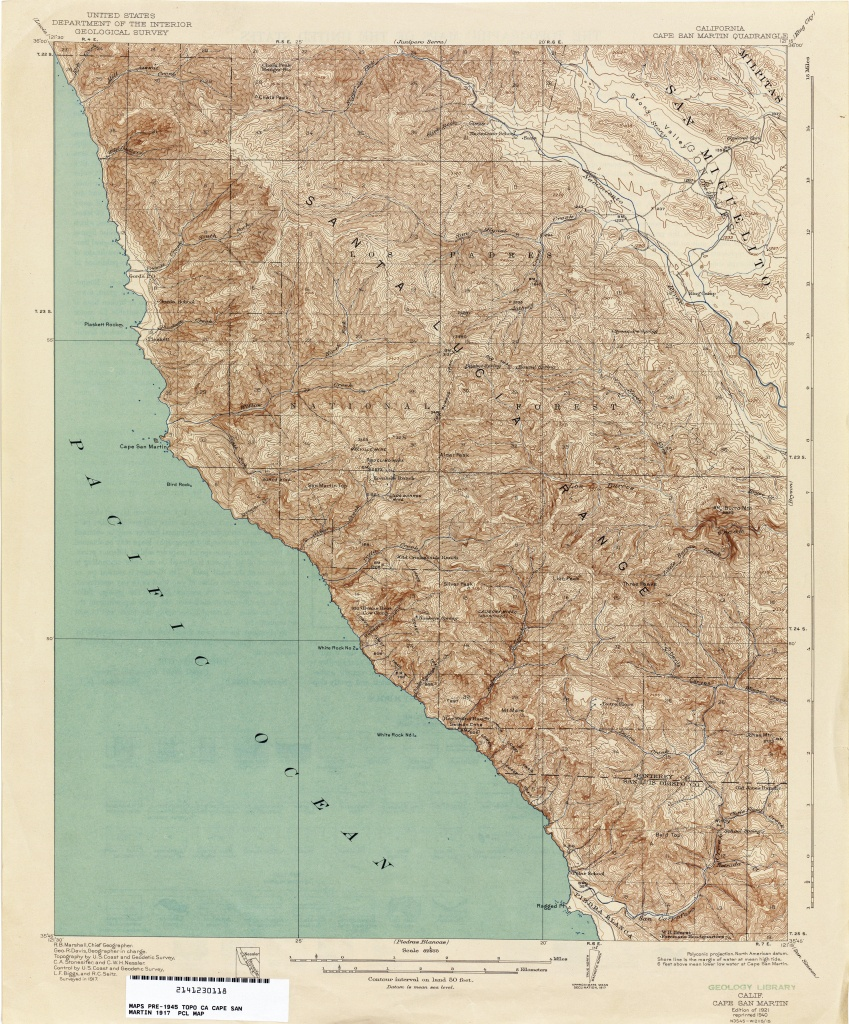 California Topographic Maps - Perry-Castañeda Map Collection - Ut - Topo Map Of California