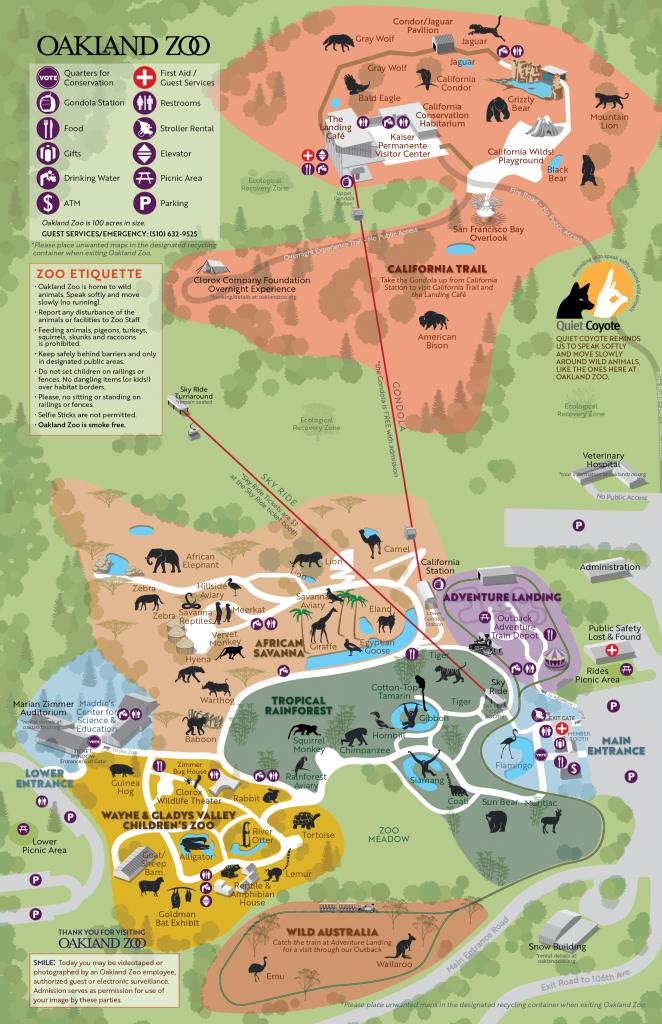 California Trail Oakland Zoo | Places | Oakland Zoo, Comic Books - Oakland Zoo California Trail Map