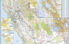 Laminated California Wall Map