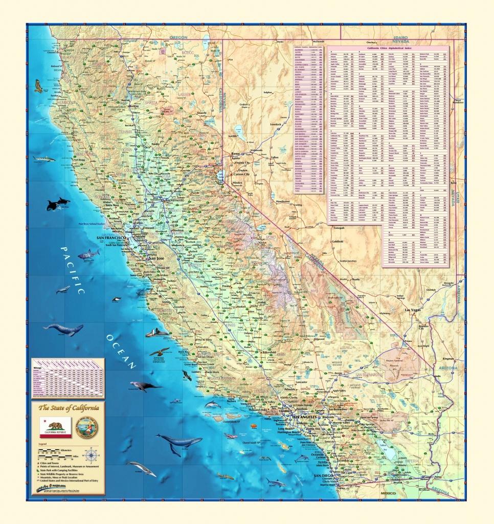California Wall Map - Maps - Laminated California Wall Map