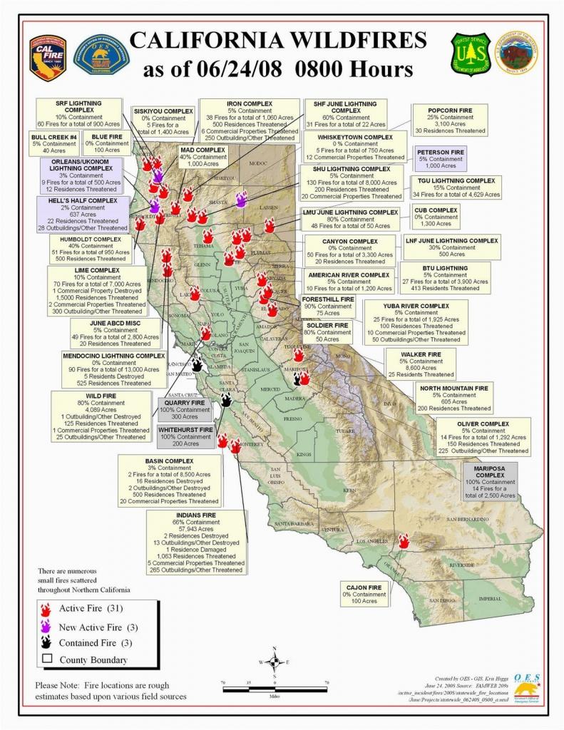 California Wildfires 2014 Map Northern California Wildfire Map - California Active Wildfire Map