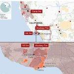 California Wildfires: Fears Of Further Damage As Winds Strengthen   Where Are The Fires In California On A Map