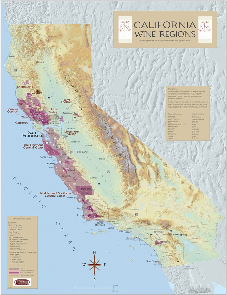 California Wine Regions - Map Of California Wine Appellations