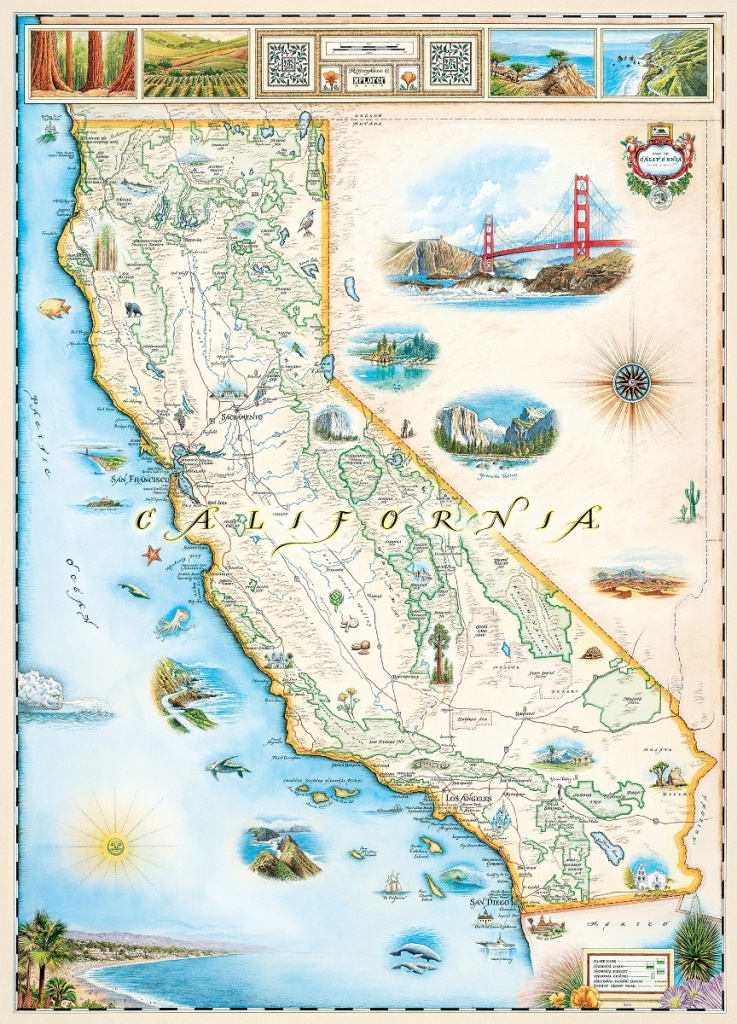 California (Xplorer Maps) Jigsaw Puzzle | Puzzlewarehouse - California Geography Map