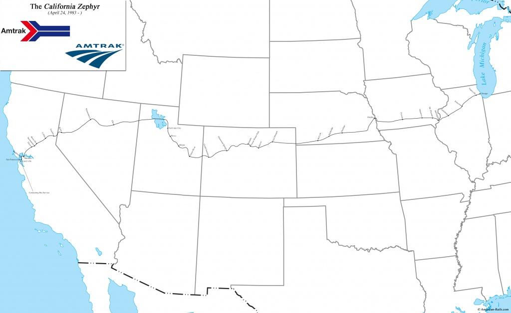 California Zephyr - Amtrak California Zephyr Map