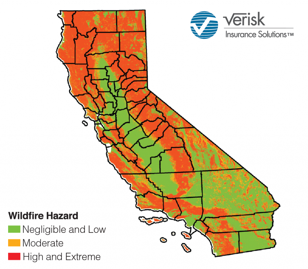 California's Drought Is Over, But A New Report Shows Wildfire Risk - California Wildfire Risk Map