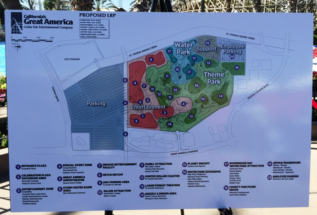 California's Great America Announces Plans For Future | Forums - California's Great America Map