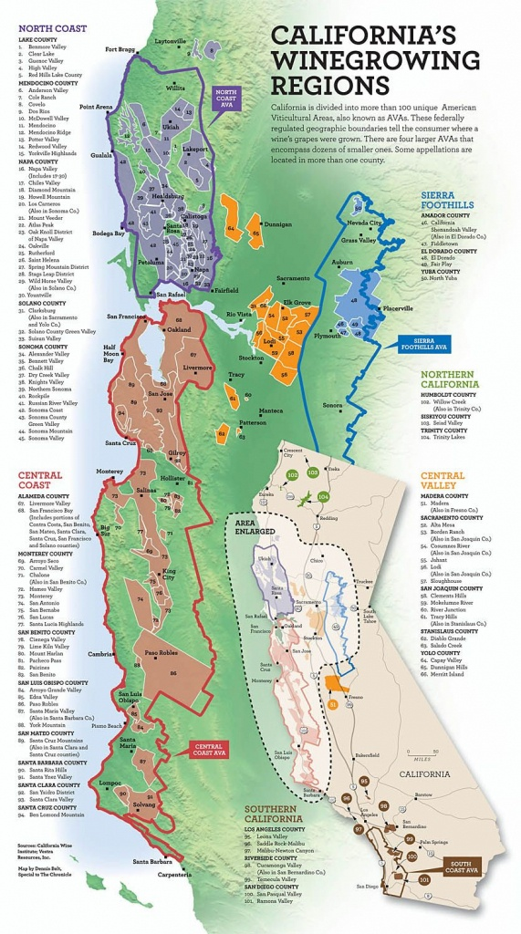 California's Wine Growing Regions | Infographics | Italian Wine - Map Of California Wine Appellations