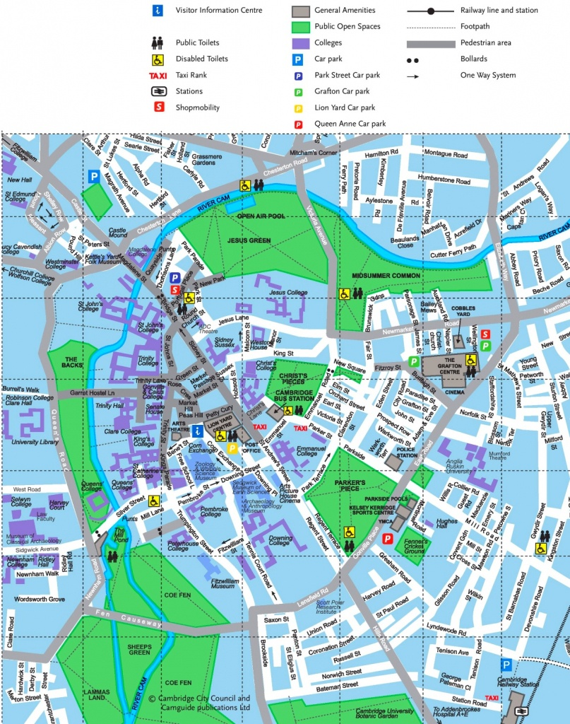 Cambridge Tourist Map - Cambridge Tourist Map Printable