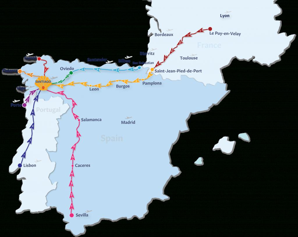 Camino De Santiago Map Unique Camino De Santiago Tours Follow The - Printable Map Of Camino De Santiago