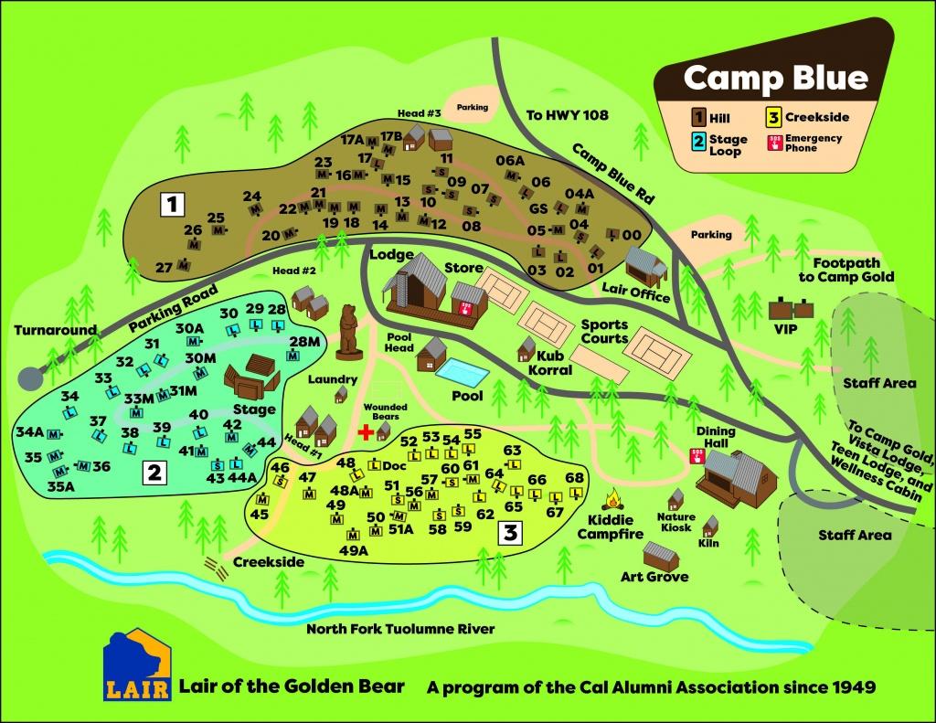 Camp Maps | Caa - California Tent Camping Map