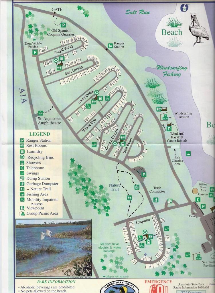 Campground Map - Anastasia State Park - St. Augustine - Florida - Florida State Park Campgrounds Map