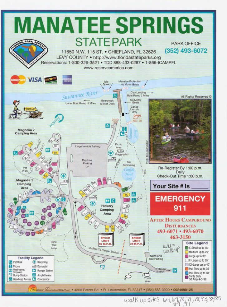 Florida State Park Campgrounds Map