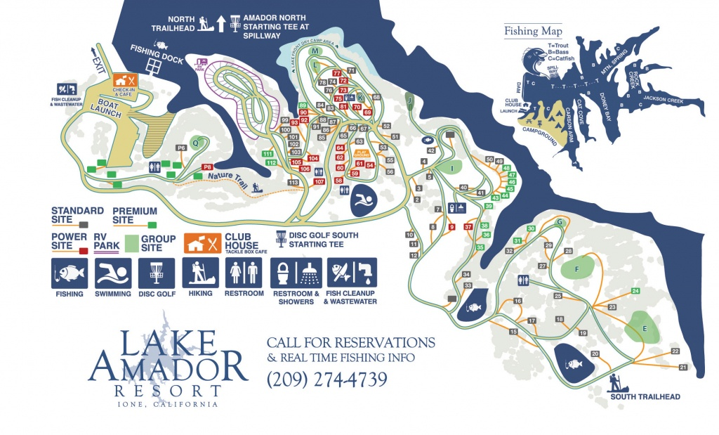 Campgrounds, Deluxe Rv Park, Disc Golf And More! – Fishing & Camping - Rancho California Rv Resort Site Map