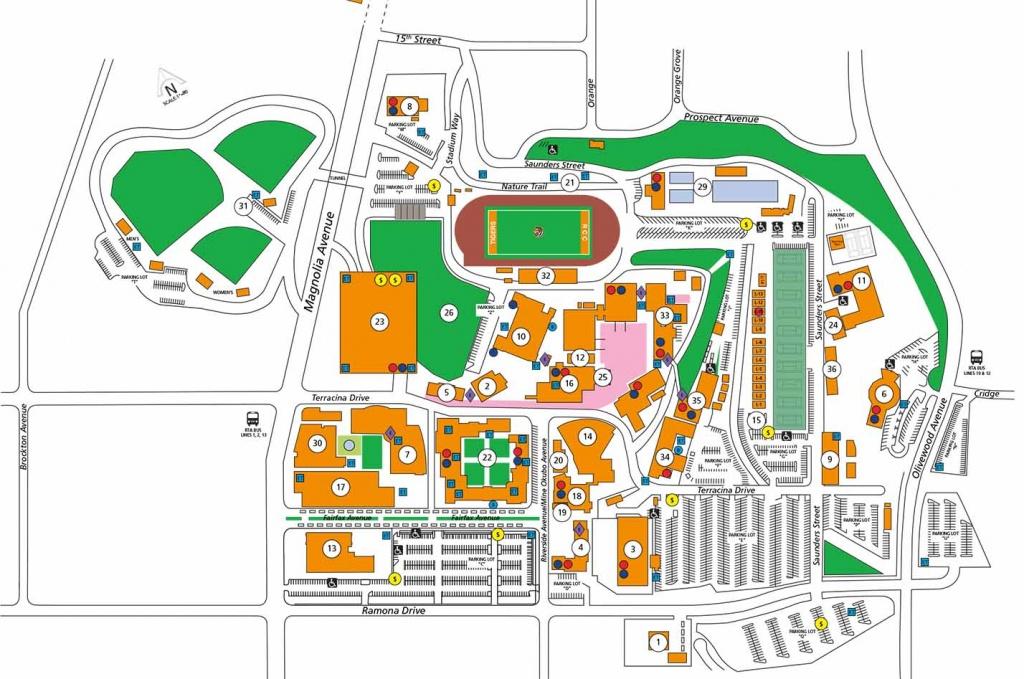 Campus Map - California Institute Of The Arts Campus Map