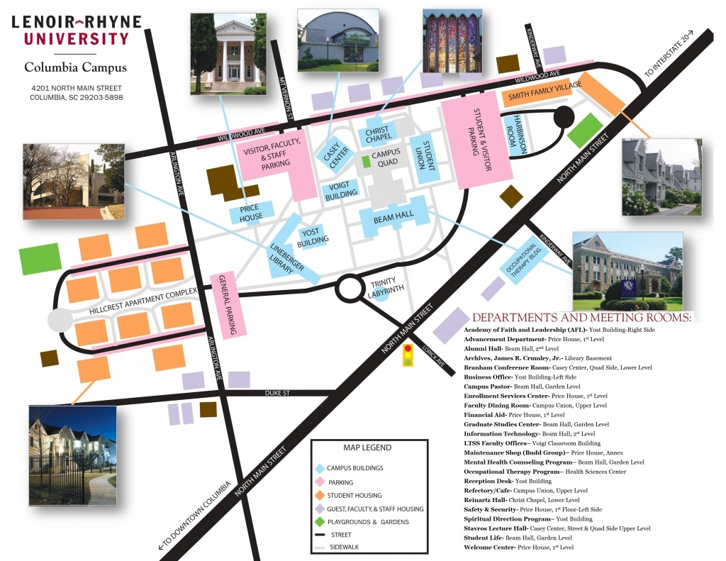 Campus Map & Directions - Lenoir-Rhyne University - Duke University Campus Map Printable