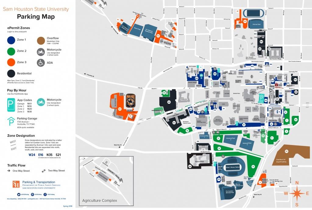 Campus Map | Shsu Visitors Guide - Texas State Dorm Map