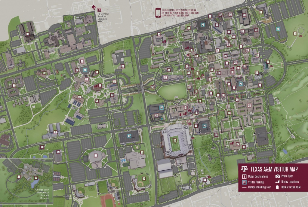 Campus Map | Texas A&m University Visitor Guide - Texas A&m Location Map