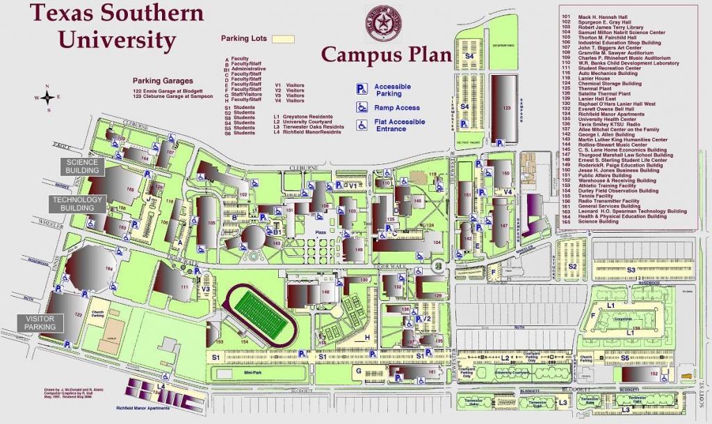 Campus Map - Texas Tech Dorm Map