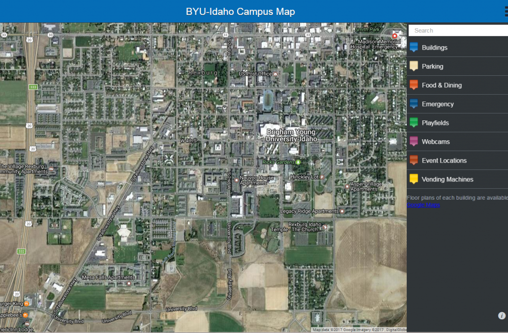 Campus Maps - Byu Campus Map Printable