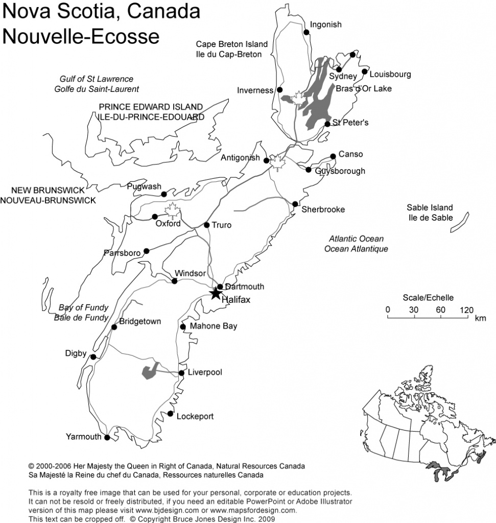 Canada And Provinces Printable, Blank Maps, Royalty Free, Canadian - Printable Map Of Nova Scotia