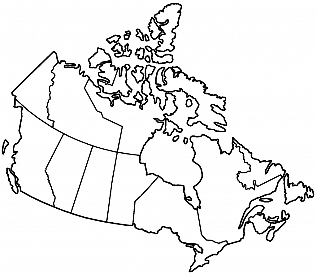 Canada Black And White Map - Lgq - Map Of Canada Black And White Printable