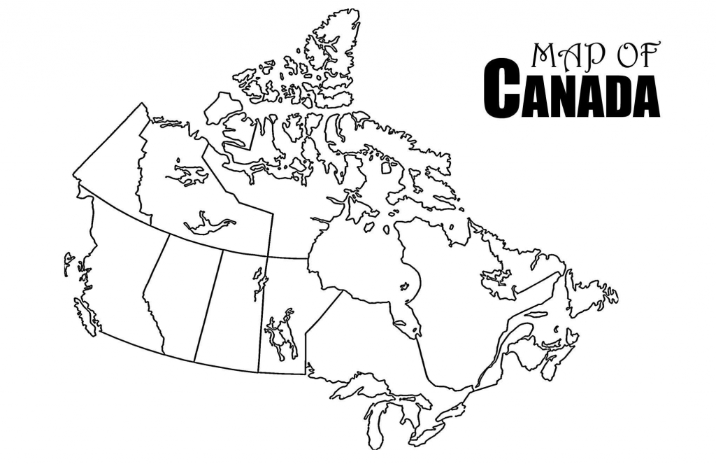 Canada Map Drawing At Paintingvalley   Explore Collection Of - Printable Blank Map Of Canada