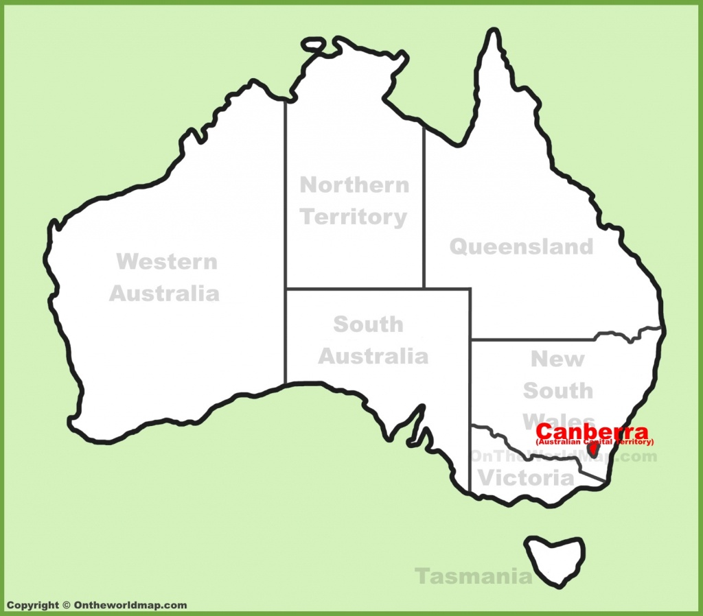 Canberra Maps   Australia   Maps Of Canberra (Capital City Of Australia) - Printable Map Of Canberra