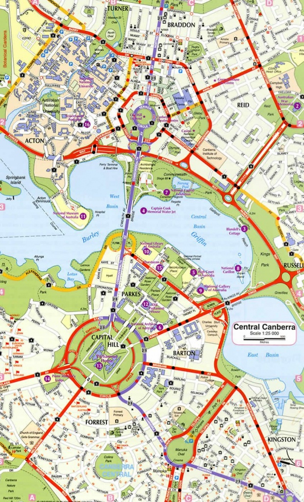 Canberra Ring Road Map   Places We've Been   Reiseziele, Reisen - Printable Map Of Canberra