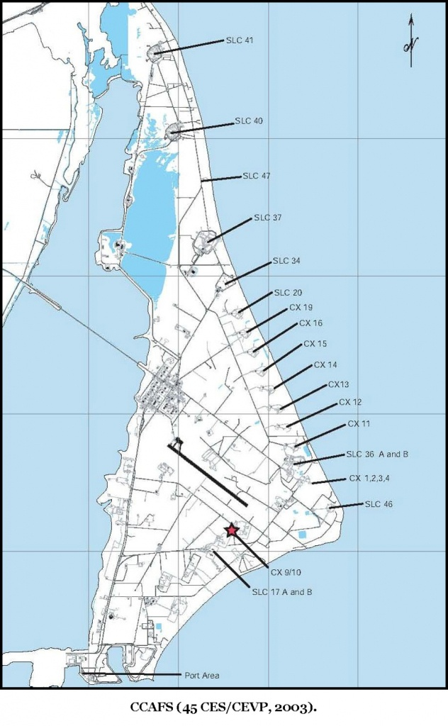 Cape Canaveral Air Force Station Maps - Port Canaveral Florida Map