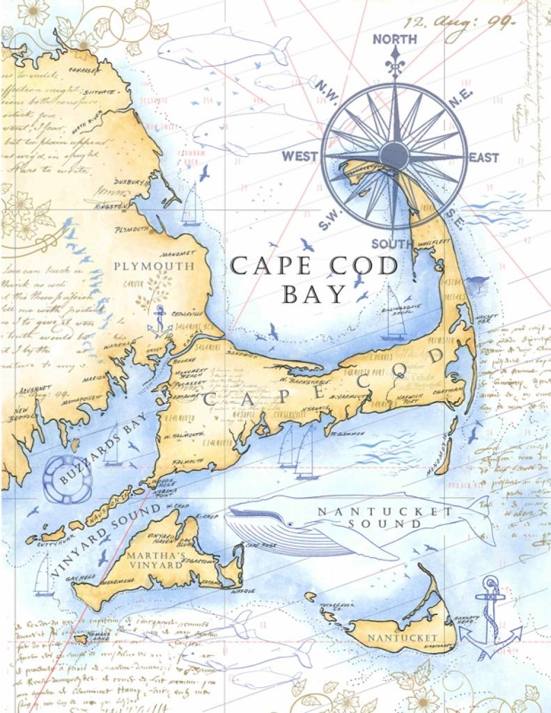 """cape Cod Catch Collection"" Digital Bundle - Printable Map Of Cape Cod"