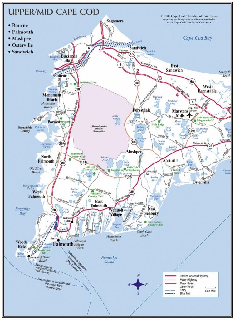 Cape Cod Maps | Cape Cod Chamber Of Commerce - Printable Map Of Cape Cod Ma