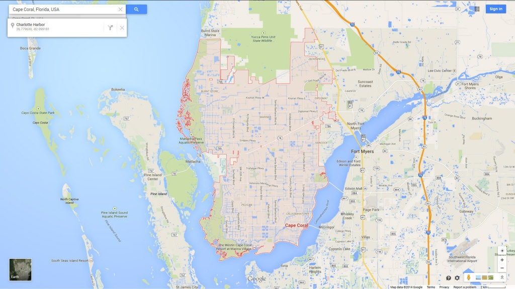 Cape Coral, Florida Map - Google Maps Cape Coral Florida