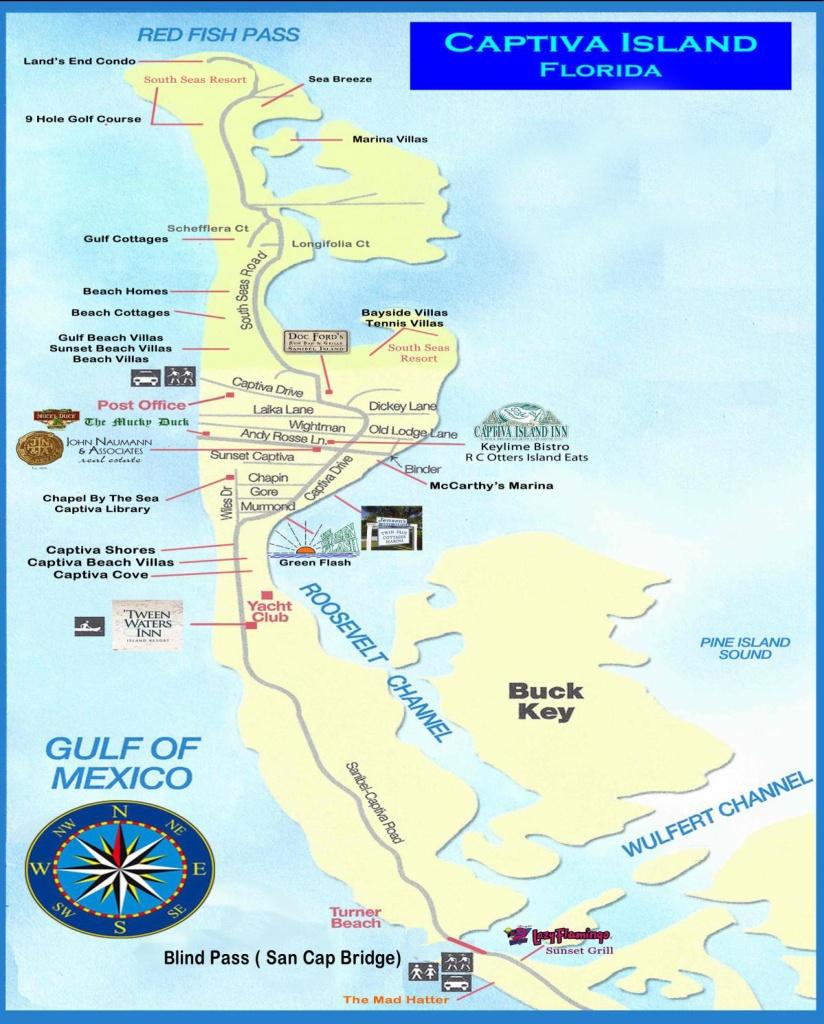 Captiva & Sanibel Island Map - Captiva Island Florida Map
