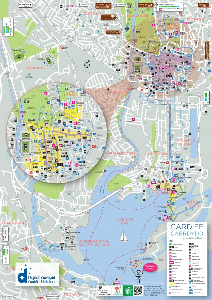 Printable Map Of Cardiff