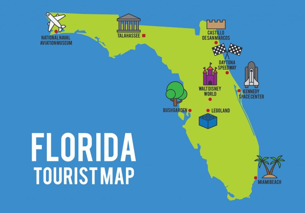 Cartoon Map Of Florida State - Download Free Vector Art, Stock - Florida Cartoon Map