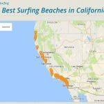 Cassurf | The Best Surfing Beaches In California | #cassurf Tees +   California Surf Map