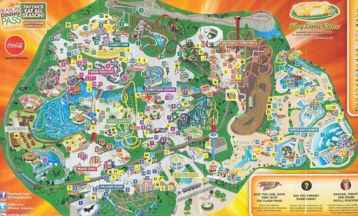 Printable Six Flags Over Georgia Map