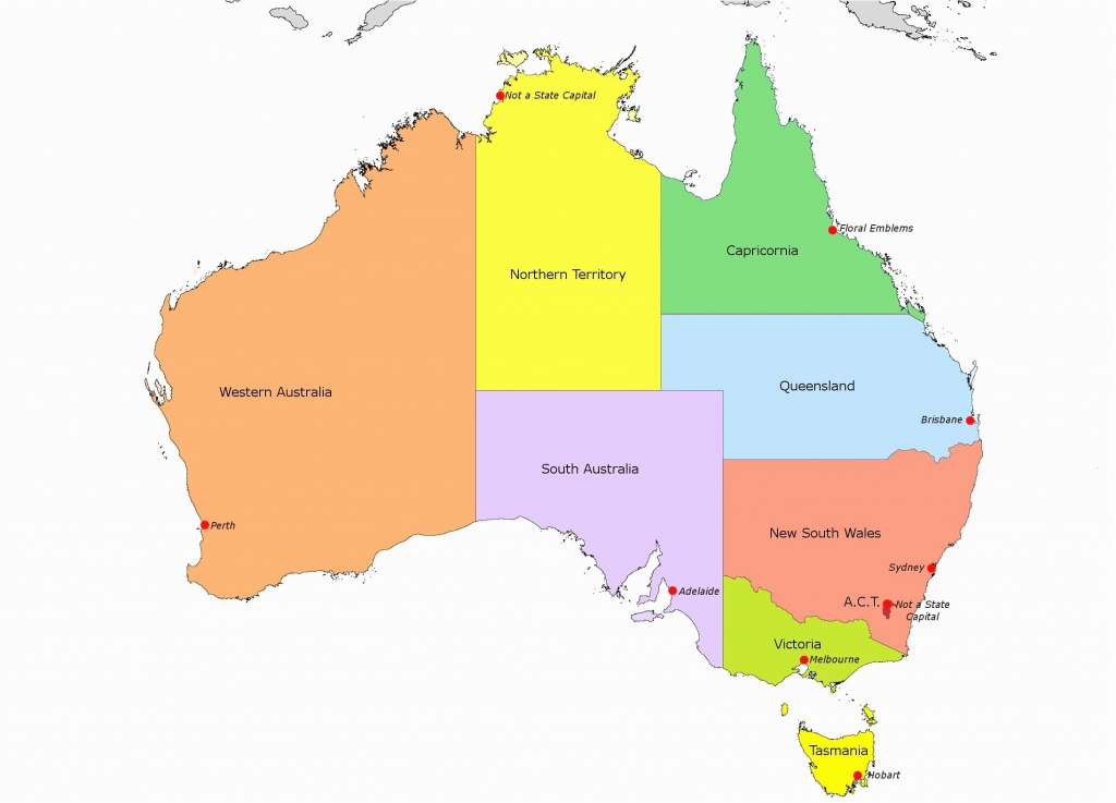 Category: Australian Maps 0 | World Map - Printable Map Of Australia With States And Capital Cities