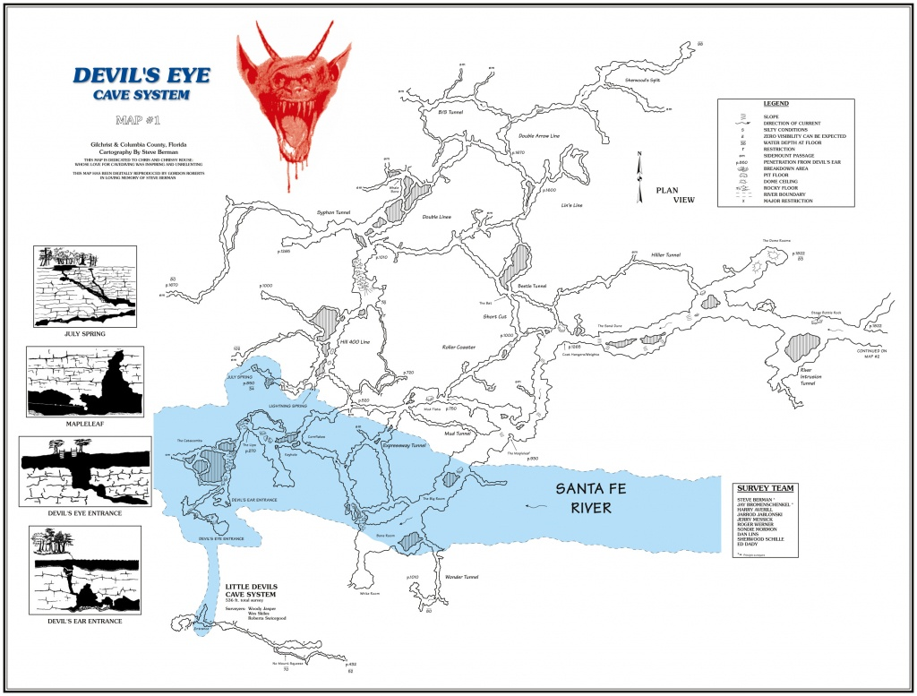 Caveatlas » Cave Diving » United States » Ginnie Springs - Florida Springs Diving Map