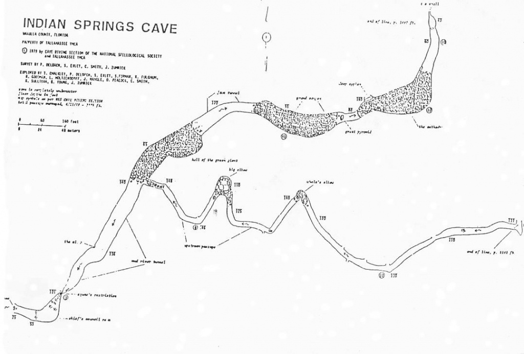 Caveatlas » Cave Diving » United States » Indian Springs - Florida Cave Diving Map