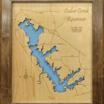 Cedar Creek Lake, Texas   Wood Laser Cut Map | Cedar Creek Reservoir   Cedar Creek Texas Map