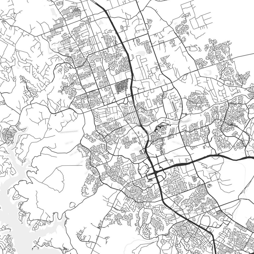 Cedar Park, Texas - Area Map - Light | Hebstreits Sketches - Cedar Park Texas Map