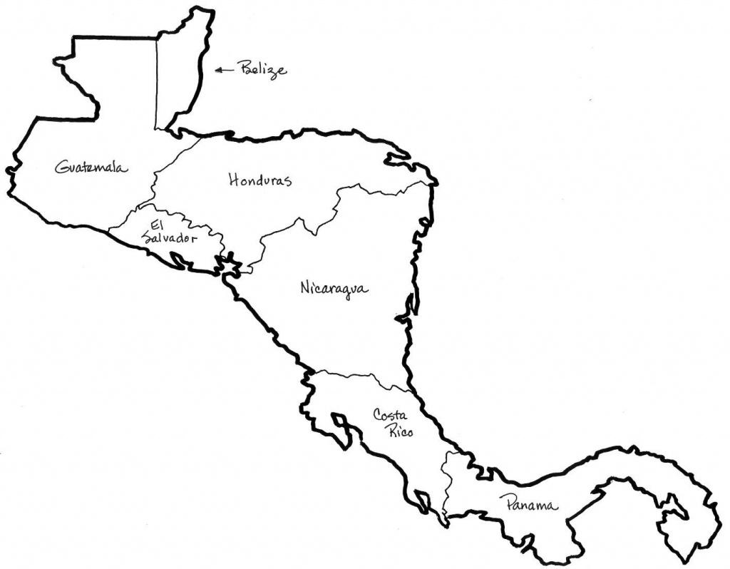 Central America Map Coloring   Social Studies   Central America Map - Printable Blank Map Of Central America
