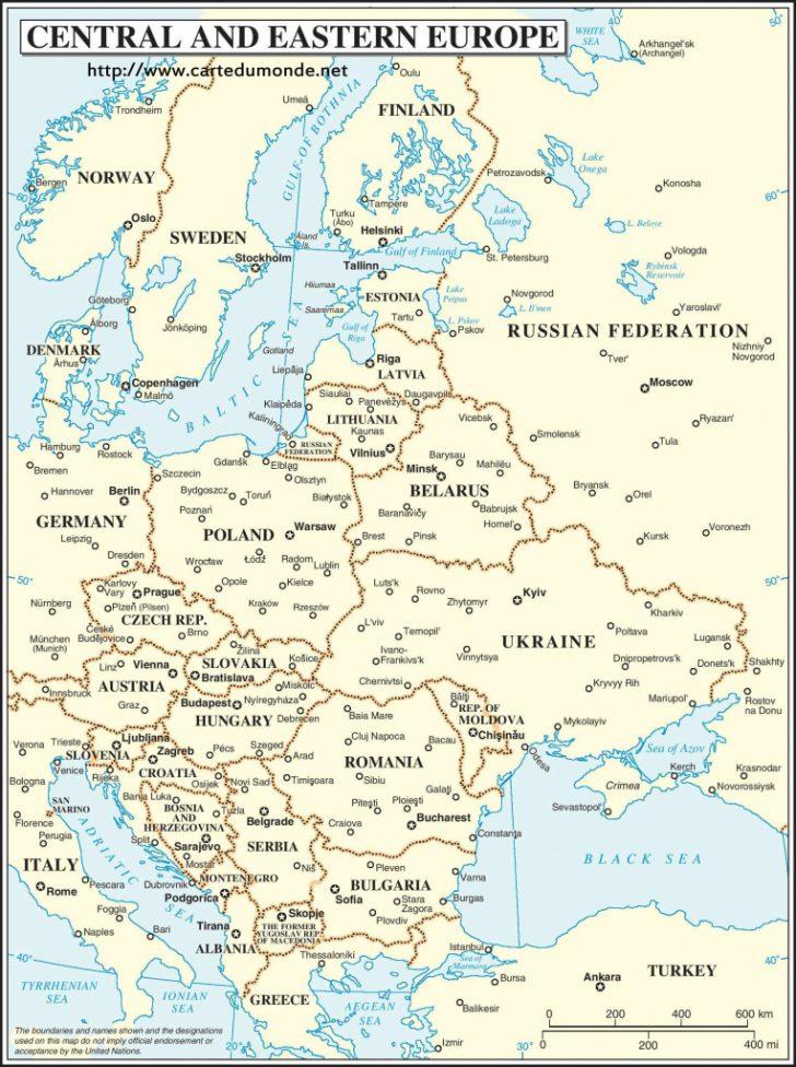 Printable Map Of Eastern Europe
