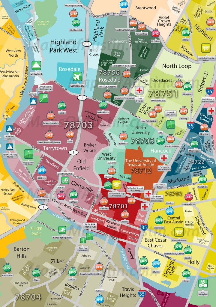 Central Austin | Maps Of Austin – Neighborhood Maps Of Austin, Texas - Austin Texas Map